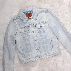 Levi's Light Wash Embroidered Denim Jean Jacket